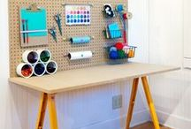 Kids Rooms: Workspaces / Explore children's room desks, nooks, homework spaces, and more inspiring ideas for kids! / by Handmade Charlotte
