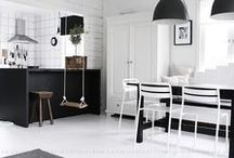 White & Black / #Decoration #Interieur #Living #White #Black #Life #Furniture #Inside #Style / by @m manufactory
