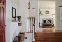 ENTRYWAYS/ HALLWAYS/ STAIRS / Beautiful and functional entryways, hallways and stairs with gorgeous woodwork, design and lighting. #Entryway #Hallway #Stairs