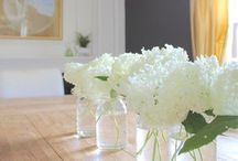 DINING SPACES / Beautiful dining rooms or eat in kitchens.  From formal to casual meals. #diningroom  #farmhousetable