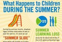 How to Prevent the Summer Slide / Ideas to keep young brains active until school starts in the fall.