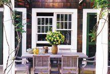 PATIOS, PORCHES, PERGOLAS & POOLS / Inspiring Outdoor Rooms I Want to Create.  #patios #porches #pergolas #pools