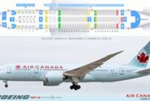 Canadian Airlines Seat Plans - 2014 / Seating plans for our major Canadian Airlines. Air Canada, Air Canada Rouge, WestJet and Air Transat / by Brian Jakovina