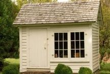 GARDEN SHEDS and GREENHOUSES / Garden Sheds and Greenhouse Inspiration. Potting shed ideas, potting tables and organizing gardening tools and starting seeding flowers and vegetables.  Chicken coops and misc. outdoor buildings too.  #gardening #sheds #greenhouse #pottingshed #chickencoop