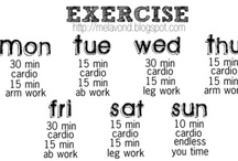 workout  / by Teresa Fennell