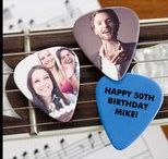 """Music / Check out all our personalized gifts that are perfect for anyone who plays music, teaches music or even just loves to listen! As a """"Thank You"""" for following us, use code PMALLPINS at checkout to get free shipping on orders of $65 or more! #music #personalized #personalizationmall #pmallgifts #personalizedgift #ticketalbum #uniquemusicgift #customgift #guitar #guitarpicks"""