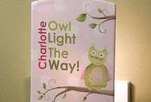 """Owls! / Owls are super popular right now and PMall has a whole line of personalized gifts that feature the adorable """"Owl About You"""" design. There are great pieces of home decor that are perfect for a baby's nursery or a little girl's room - come check them out! As a """"Thank You"""" for following us, use code PMALLPINS at checkout to get free shipping on orders of $65 or more! #Owl #Nursery #babyowl #personalized #personalizationmall #pmallgifts #pmall #customgift #owlgift #babygift"""