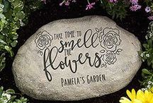 Spring has sprung! / Check out all of our wonderful Personalized Spring Gifts and décor at PersonalizationMall.com! #spring #personalizationmall #pmallgifts #personalized #springflowers #garden #gardengift #flowerbed #gardenstone #yardstake #yardsign #gardenflag #yardflag #personalizedflag #customgarden #outdoordecor #gardendecor #yarddecoration