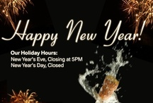 New Year / Happy New Year! We wish everyone the best in #2013! In observance of New Year's Day, we are closed on Tuesday, January 1, 2013.