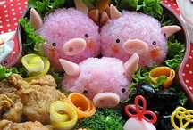 Piggy Eatable ~ Bento Box/ Bread/ Bun/ Fruit/ Noodle/ Sandwiches