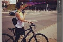 Celebs on bike / Celebrities don't just get around in luxury cars and chauffeured limos — they also like to put their pedaling skills to the test on bicycles