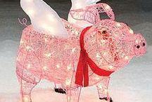 Festive Piggy ~ Christmas + Ornament