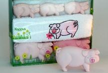 Piggy Bathroom ~ Bath / Soap + Dispenser / Piggy Soap / Soap Dish / Soap Dispenser