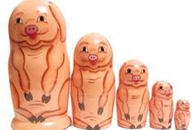 Piggy Nestling Dolls