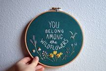 In Hoops / Embroidery projects and inspiration!