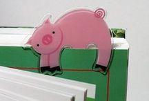 Piggy Book Mark