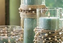 Craft Ideas / From a pile of rubble, the recycle bin or a second hand store can come the most wonderful decor items.  We are only limited by our imaginations, and then we search Pinterest to stimulate it even further!  ;-).