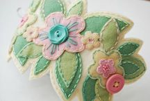 CRAFTS | Embroidery & Felt / Embroidery ideas, embroidery patterns and stitches. Felt crafts, felt cuties, even felt flowers.