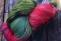 My hand dyed yarn/ handgeverfd breigaren