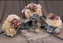 Wedding.Bodas ramos bouquet de novia flores de tela Algodón de Luna / Ramo de flores de tela para novias elegantes y únicas,personalizados o Joya ,hecho a mano  algodondeluna@gmail.com 0 606619349