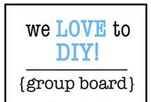 We LOVE to DIY! / Group Board dedicated to all things DIY! Please, no more than 10 pins in a row. In order to join, please first follow all of my boards and then comment on one of my pins to join! Thanks ~ Lindze @ Interior Fun