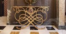 Come in, come in! / Home entrance furniture- i really have a thing for bronze legged consoles!