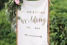 signage / wedding signage