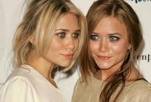Ashley & Mary Kate Olsen / by Jessica Guerrero