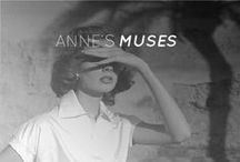 ANNE'S MUSES / The Anne Fontaine woman is rich with personality.  She's both delicate and romantic in her white silk shirt, flowing wistfully in the breeze.   She's classical in her thoughts, but never ceases to surprise with her daring imagination and desire for the fresh and new. The Anne Fontaine woman is strong and sure of herself.  She's passionate about travel and the world which surrounds and envelopes her. The Anne Fontaine woman is funny and beautiful. The Anne Fontaine Woman, is that you? / by Anne Fontaine