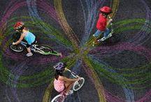 Kids on bike and bike child seats