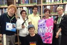 "Halloween 2014 - Geek Week Halloween / Madison College librarians were encouraged to dress up as whatever it is that they ""geek."" Halloween happened to fall during our library Geek Week. / by Madison College Libraries"