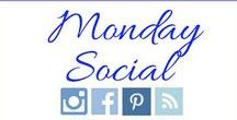 """Monday Social Features / Please join us every Sunday night for """"Monday Social.""""  This is a party where we connect with friends on Pinterest, Facebook, Instagram, or a Blog.  Hosted by the blogs:  Botanic Bleu, Let's Add Sprinkles, and My Heart Lives Here"""