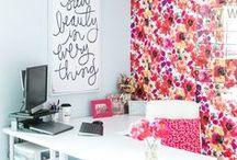 Art Studio, Inspiring Office / Inspiring office space, craft room ideas, craft room decor, modern office, art studio