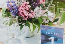 table numbers / creative and pretty table number ideas