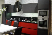 For the Home / Interior design, house ideas, products for the home, red and black kitchen, Asian themed kitchen, cherry blossom bedroom, turquoise living room, geeky home ideas.