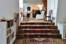 Rugs - room settings / I love rugs. A lot. It's what I do. Some inspiring room shots to show you where to use rugs, how to use rugs, color and pattern mixing...