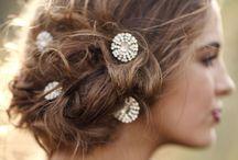 < B R I D A L  H A I R  > / Gorgeous messy bridal hair with a twist  / by Bride La Boheme
