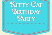 Kitty Cat Birthday Party / cat birthday party ideas for kids