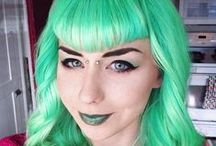 Colorful Hair / Alternative, retro, pinup, punk, Gothic hairstyles, hair color, wigs