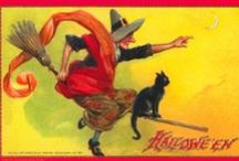Vintage Halloween Collectibles / Vintage Halloween Postcards and collectibles from my website Morticia's Morgue and my facebook page Vintage Halloween Collectibles page (click the images to go to my page ;-)