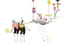 •○ Balloons ○• / by Majeak Ann Illustration & Design