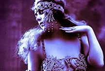 Vintage Belly Dancers and BD Collectibles / Vintage photos, postcards, figurines of Middle Eastern dancers, exotic dancers, theatrical ladies and bejeweled flappers and models. Click an image to see my website Hip Scarf Junkie, and check out my corresponding facebook page at http://www.facebook.com/HipScarfJunkie