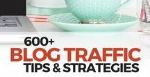 600+ Blog Traffic Tips & Strategies / Blog promotion and building an audience, reader profiles, traffic generation, Google analytics, using email programs like Mad Mimi & Mail Chimp, marketing tools, how to get your blog post shared, and more tips!
