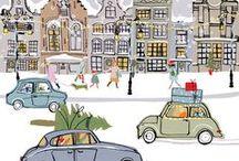 Christmas 3B: Art & Illustration / inc. Jenny & Curt Nystrom, Elsa Beskow, Helge Artelius, Anton Pieck, Mela Koehler, Trisha Romance, Lisi Martin, etc.