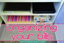 Frugal Organization Ideas / by A Proverbs Wife
