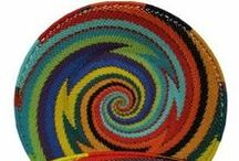 African Bowls and Baskets / #African baskets and bowls -Striking traditional and contemporary interpretations of traditional African weaving.  #handmade #fairtrade