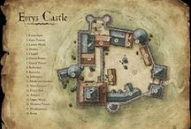 Fantasy: Cartography & Maps / Fantasy: Cartography & Buildings is a geekinthecloset.com Pinterest board that contains cool maps for fantasy roleplaying games such as the Pathfinder RPG and D&D for reference and to inspire entertainment designers.