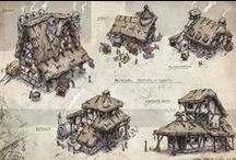Fantasy: Buildings & Architecture / Fantasy: #Buildings & #Architecture is a geekinthecloset.com Pinterest board that contains cool images of #fantasy and #medieval era #buildings for fantasy #roleplaying #games such as the #Pathfinder #RPG and 3D&D for reference and to inspire entertainment #designers.