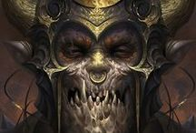 Fantasy: Portraits & Busts / Fantasy: Portraits & Busts is a geekinthecloset.com Pinterest board that contains cool images of PCs and NPCs faces for fantasy roleplaying games such as the Pathfinder RPG and D&D for reference and to inspire entertainment designers.