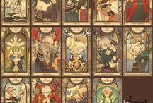 Fate/Apocrypha tarot cards